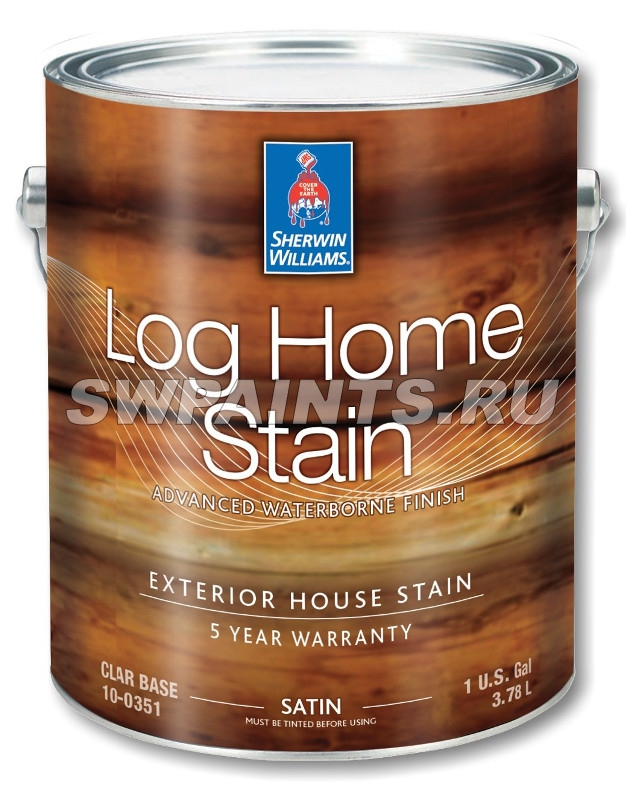 LOG HOME Exterior Waterborne Satin Semi-Transparent Stain
