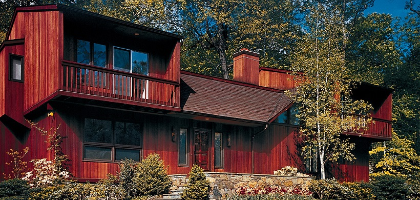 LOG HOME Exterior Waterborne Satin Semi-Transparent Stain-1