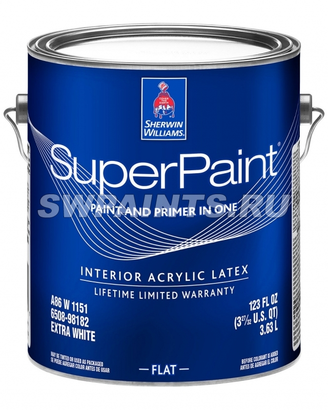SuperPaint Interior Acrylic Latex Flat